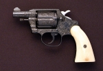 Colt Police Positiv, Graviert, Elfenbeingriffe